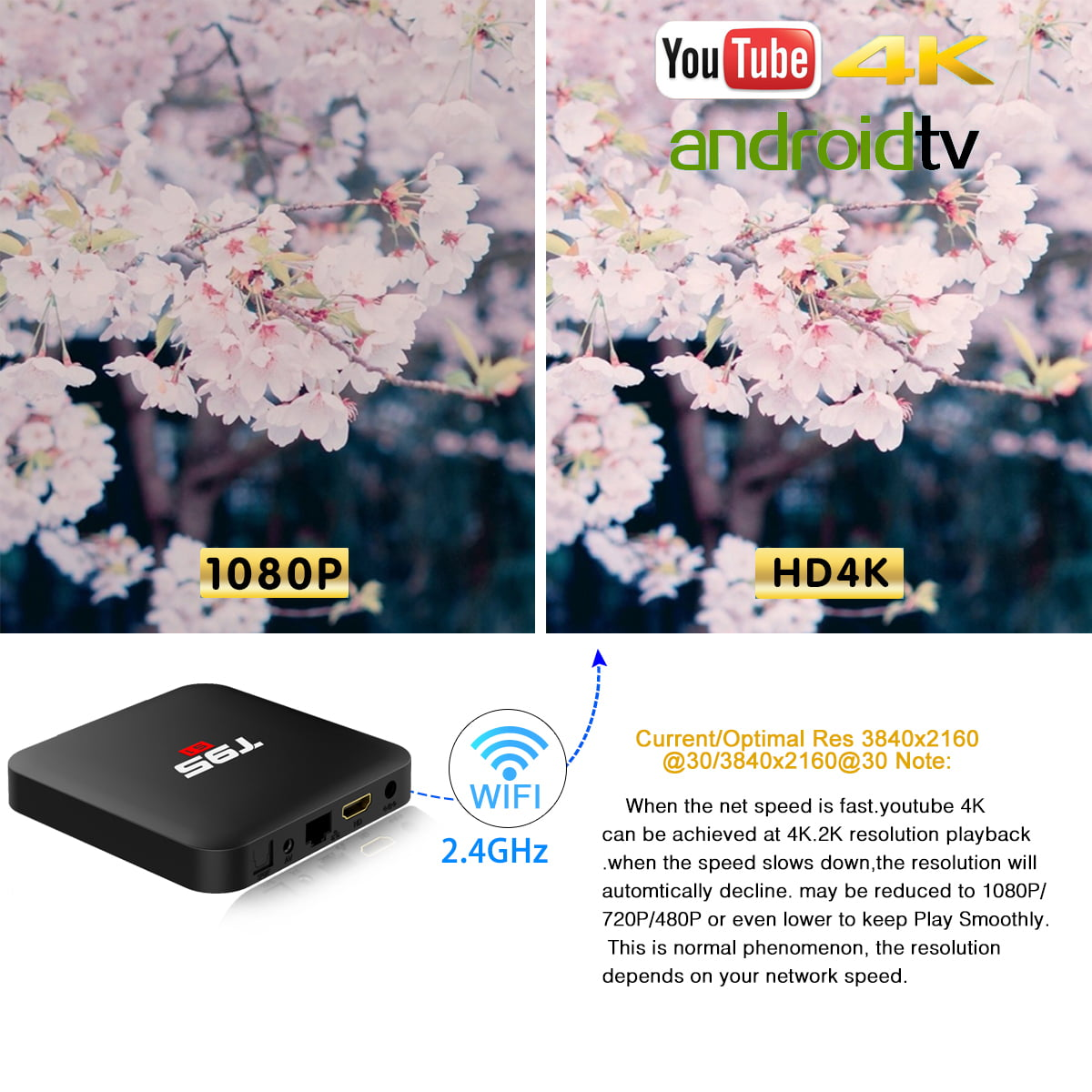 Firefly T95 S1 Android Smart TV Box 64bit Quad H6 2Ghz 2G DDR3 16G flash Android 7.1 9