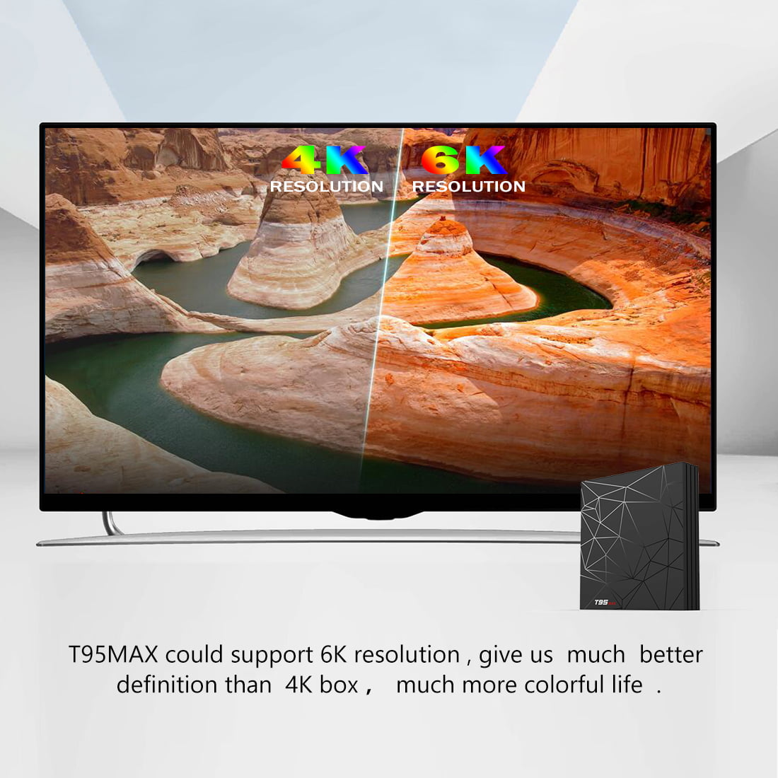 Firefly T95 max Android Smart TV Box H6 Quad core cortex A53 4G DDR3 32G flash Android 8.1 OS 15