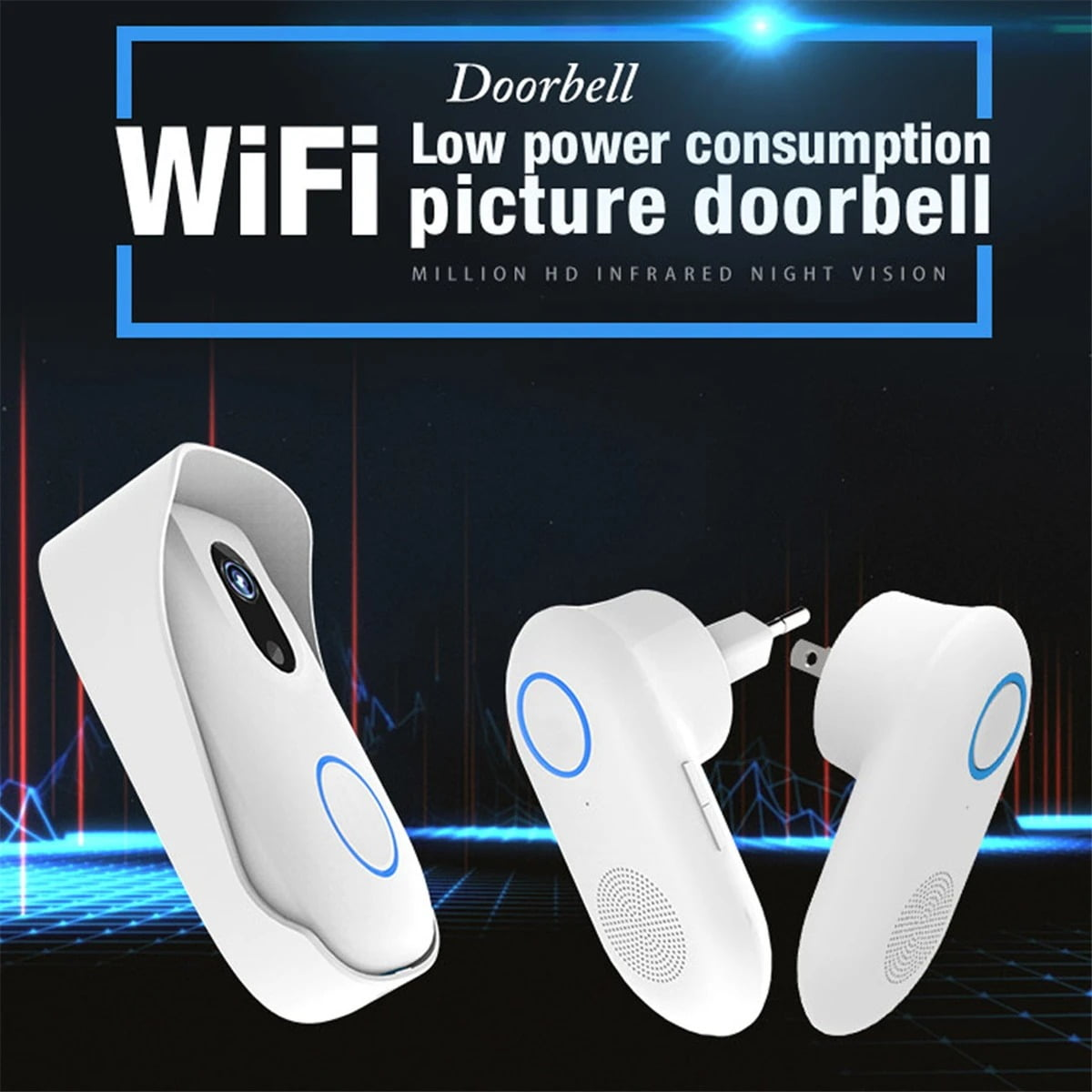 SH02 Smart Wireless Doorbell Lens Video HD Security Camera Night Vision App Control (2)