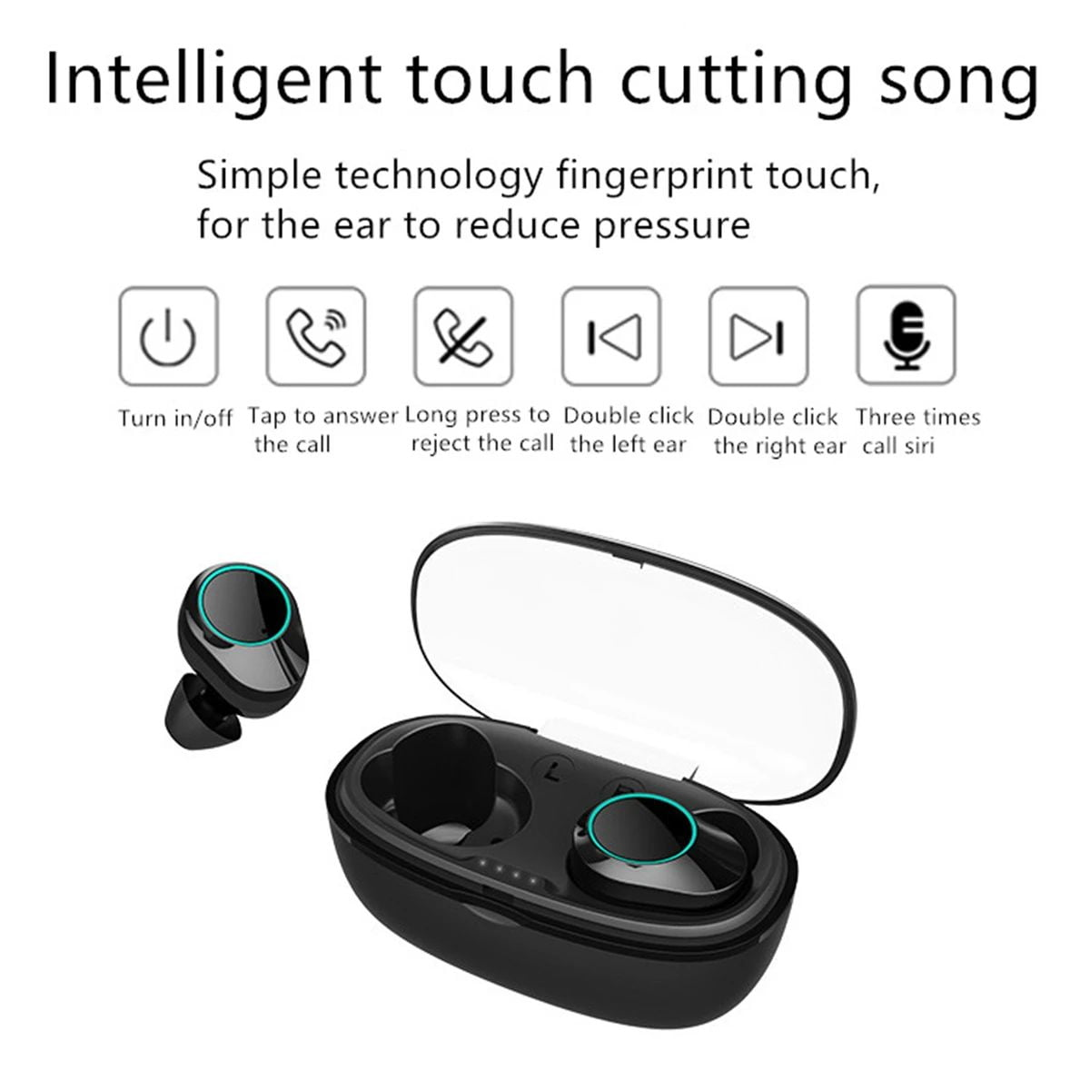T2C TWS Bluetooth 5.0 earphone hifi stereo type-c charging case wholesale china 1 (14)