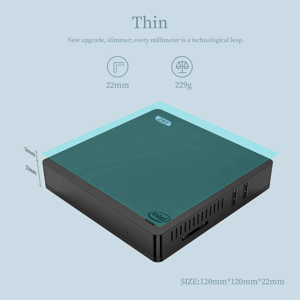 Z83V Windows 10 64Bit Intel Atom X5 Z8350 4K Mini PC (3)